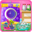 Laundry clothes girls games
