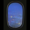 پس زمینه زنده پنجره هواپیما