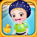 هیزل کوچولو شنا کردن یاد میگیره