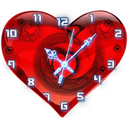 live clock heart background