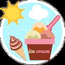 Summer ice cream and drinks