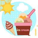 بستنی و نوشیدنی تابستونی