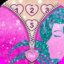 Zipper romantic lock