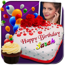 Photo On Birthday Cake - Cake with name and photo
