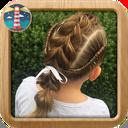 آموزش شنیون موی بچگانه