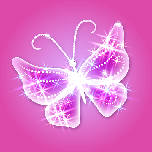 Glitter Butterfly Wallpaper