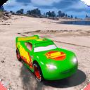 Superhero cars racing
