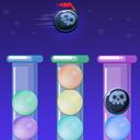 پازل حباب های رنگی