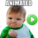 👶 Animated Baby Memes Stickers WAstickerApps
