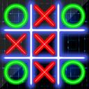 Tic Tac Toe Online - Classic puzzle. XO Glow & Big