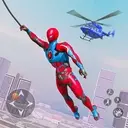 Flying Robot Rope Hero - Vegas Crime City Gangster