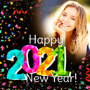 Happy New Year Photo Frame 2021 photo editor