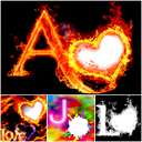 3d Fire Text : Smoke Fire Text Photo Frame Effect
