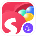 Round Colorful Ball Box --APUS Launcher theme