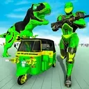 Tuk Tuk Auto Rickshaw Transform Dinosaur Robot