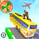 Superhero Bus Stunt GT Racing: Mega Ramp Bus Games
