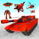 Helicopter Transform War Robot Hero: Tank Shooting