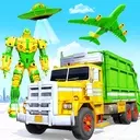 Flying Garbage Truck Robot Transform: Robot Games
