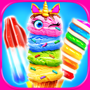 Rainbow Unicorn Glitter Ice Cream - Cooking Games