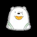 WhatsApp Bear Sticker