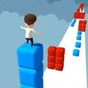 Cube Stacker Surfer 3D - Run Free Cube Racing Game