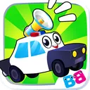 Toddler car games - car Sounds Puzzle and Coloring