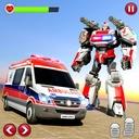 Ambulance Robot Car Transform: War Robot Games