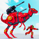 Kangaroo Robot Games: Animal Robot Car Transform