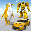 Penguin Robot Car Game: Robot Transforming Games