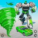 Tornado Robot Car Transform: Hurricane Robot Games