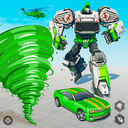 Tornado Robot Car Transform: Hurricane Robot Games