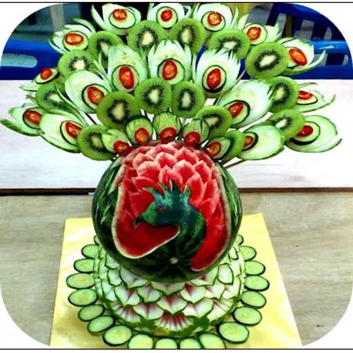 آموزش میوه آرایی ، تزیین غذا سالاد
