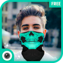 Cagoule Mask Half Face - Ghost Mask Photo Editor