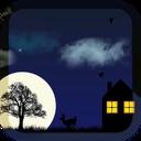 پس زمینه آهو در شب