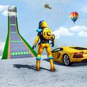 Superhero Car Games: Mega Ramp Car Stunts Racing