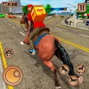 Mounted Horse Riding Pizza Guy: Food Delivery Game