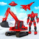 Grand Snow Excavator Robot Transforming Games