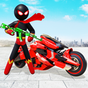 Stickman Moto Bike Hero: Crime City Superhero Game