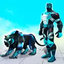 Flying Panther Robot Hero Game:City Rescue Mission