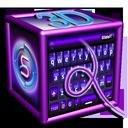 SlideIT Purple 3D Skin