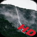 آبشار و مه زنده