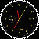 ساعت آنالوگ + قطب نما