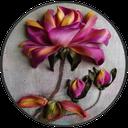 آموزش گل های روبانی(روبان دوزی)