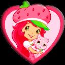 دختر توت فرنگی قلبی