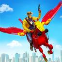 Flying Horse Robot Hero Cowboy Robot Games