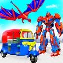 Flying Tuk Tuk Robot Auto Rickshaw Driving Games