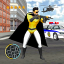 Flying Superhero Captain Robot NewYork City War