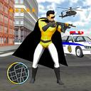 Flying Superhero Captain Robot NewYork City War