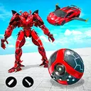 Red Ball Robot Transform Flying car War Robot Game
