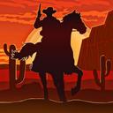 Wild West Gunslinger Cowboy Rider